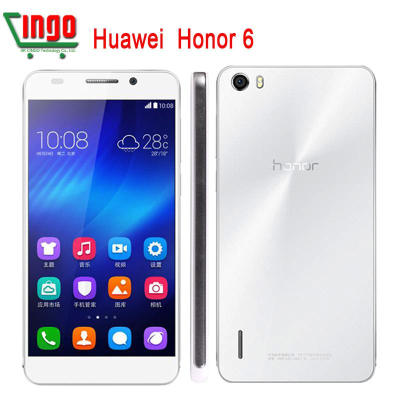 "Original Huawei Honor 6 honor 6 plus Mobile phones Dual Sim WCDMA 4G LTE Octa Core 3GB RAM 5.0""1920x1080P 13MP Android 3100mAh(China (Mainland))"