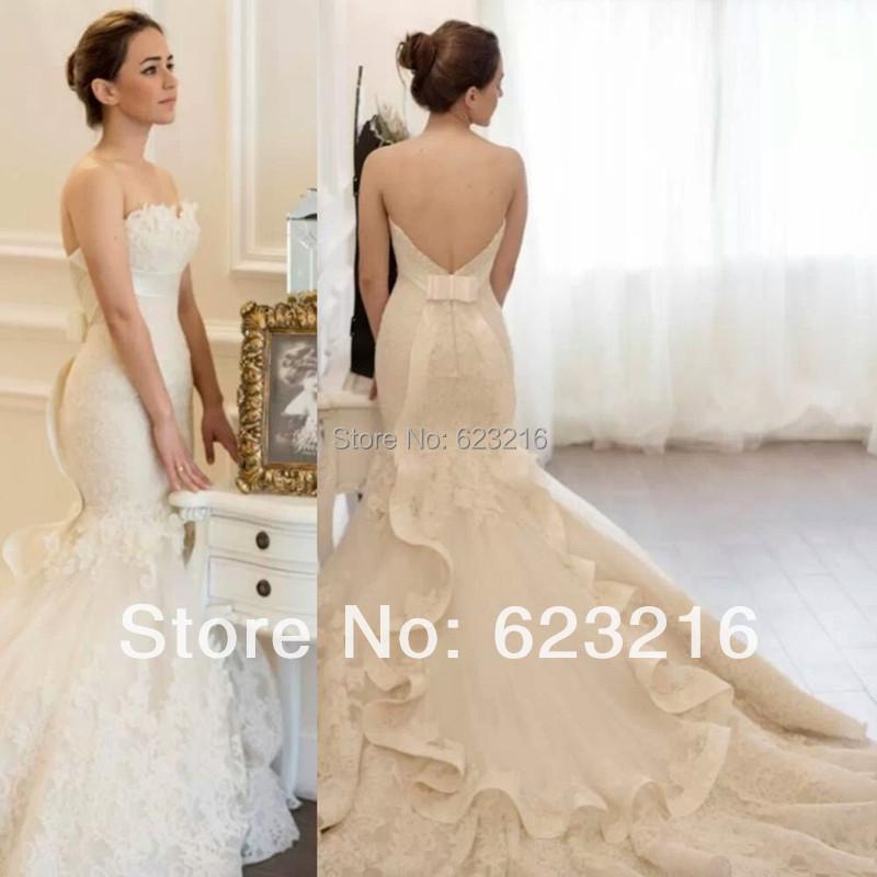 2015 designers white brand lace mermaid wedding dresses for Sexy designer wedding dresses