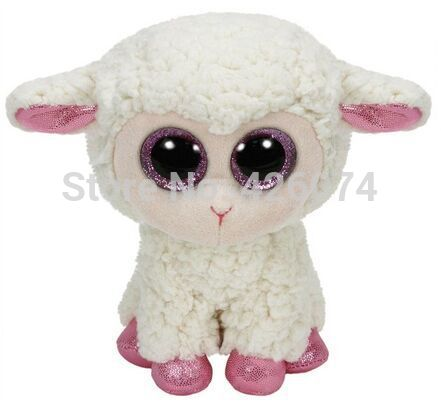 TY Beanie Boos Big Eyes Stuffed Animals Daria the Lamb Plush Kids Plush Toys For Children Gifts 15CM(China (Mainland))
