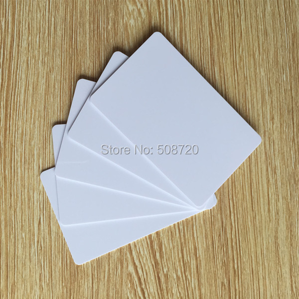 100 Blank ID cards - The Best PVC PLASTIC Credit Card thin CR80 Available free shipping(China (Mainland))