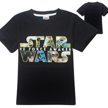 Fatinbaby (4-12y) Boys T-Shirt 2016 Hot STAR WARS Summer Style Short Sleeve Boys T-shirt Cotton Science Fiction Boys Clothes