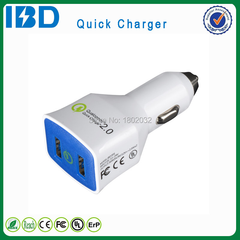 For vivo X3L , mobile charger products QC 2.0 fast charge usb car charger with Smart IC(China (Mainland))