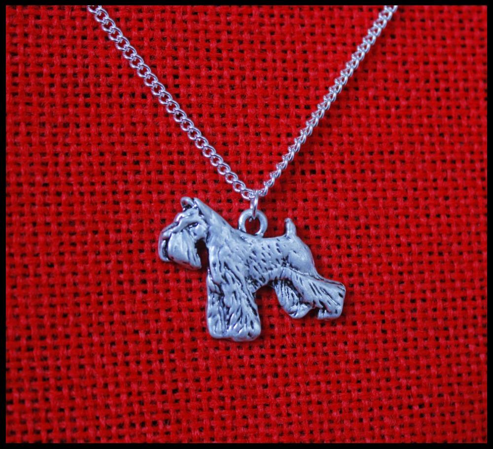 wholesale cartoon schnauzer dog necklace pendant jewelry Silver/gold colors plated 12pcs/lot(China (Mainland))