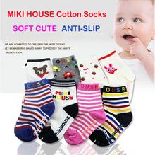 Boy Girl Cute Lovely Soft Cartoon Mix Design Socks Baby Kid Slip resistant Cotton Socks Children