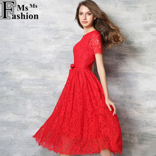 New Europe 2016 Spring Summer Women's Lace Openwork Long Dresses Bohemian Femme Casual Clothing Women Sexy Slim Party Dresses(China (Mainland))