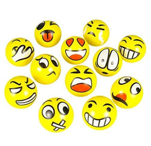 Emoji Faces Squeeze Stress Ball Hand Wrist Finger Exercise Stress Relief Therapy - Assorted Styles(China (Mainland))