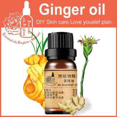 Essential oils kingdom, 100% pure plant Natural Ginger Oil 10ml for Boost Blood Circulation Ruddy Skin Aromatherapy SPA body(China (Mainland))