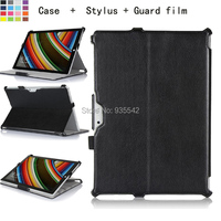 For Microsoft Surface Pro 3 12 Inch Tablet PC Premium Folio Slim-Fit Multi-Stand Case Hard Shell Cover Skin w/ Hand Strap