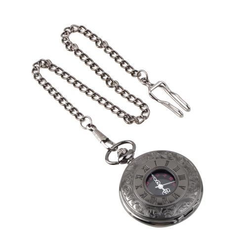Steampunk Roman Pattern Quartz Pocket Watch