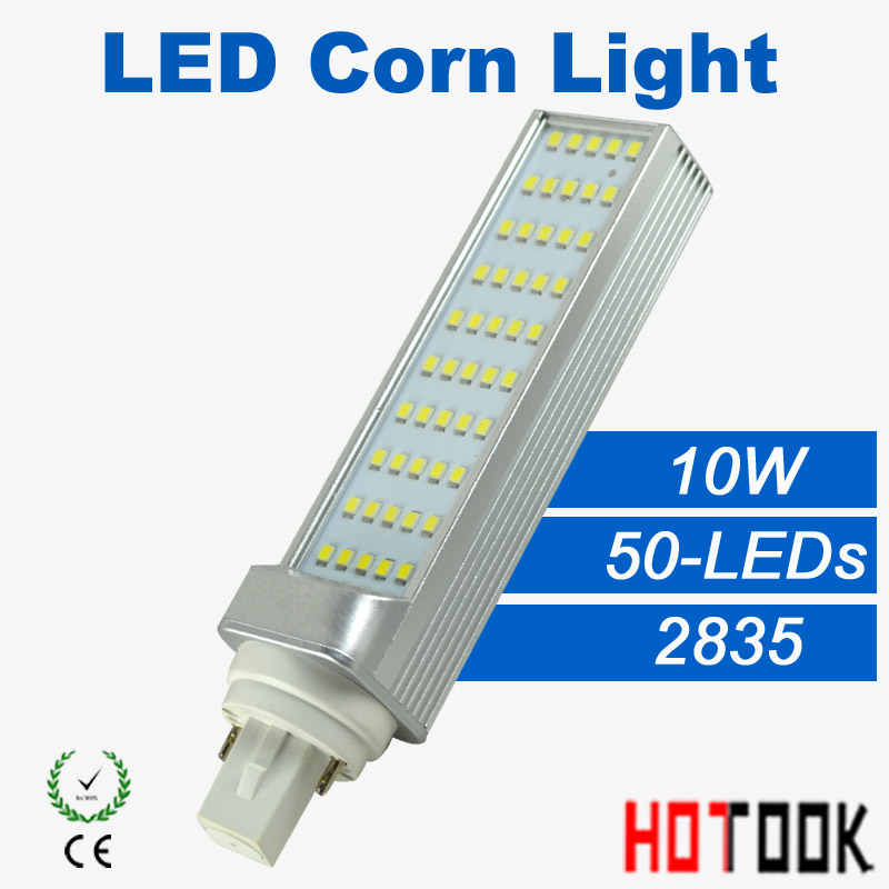 High Power led lighting 10W G24  LED Corn Light 2835 220V bedroom LED horizontal plug lamp Bulb 85~265V 50led CE ROHS X 10PCS<br><br>Aliexpress