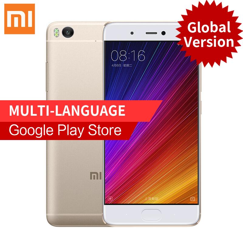 Original Xiaomi Mi 5s Mi5s Smartphone 3GB RAM 64GB ROM 5.15'' Snapdragon 821 4K Video Mobile Phones Fingerprint ID MIUI 8