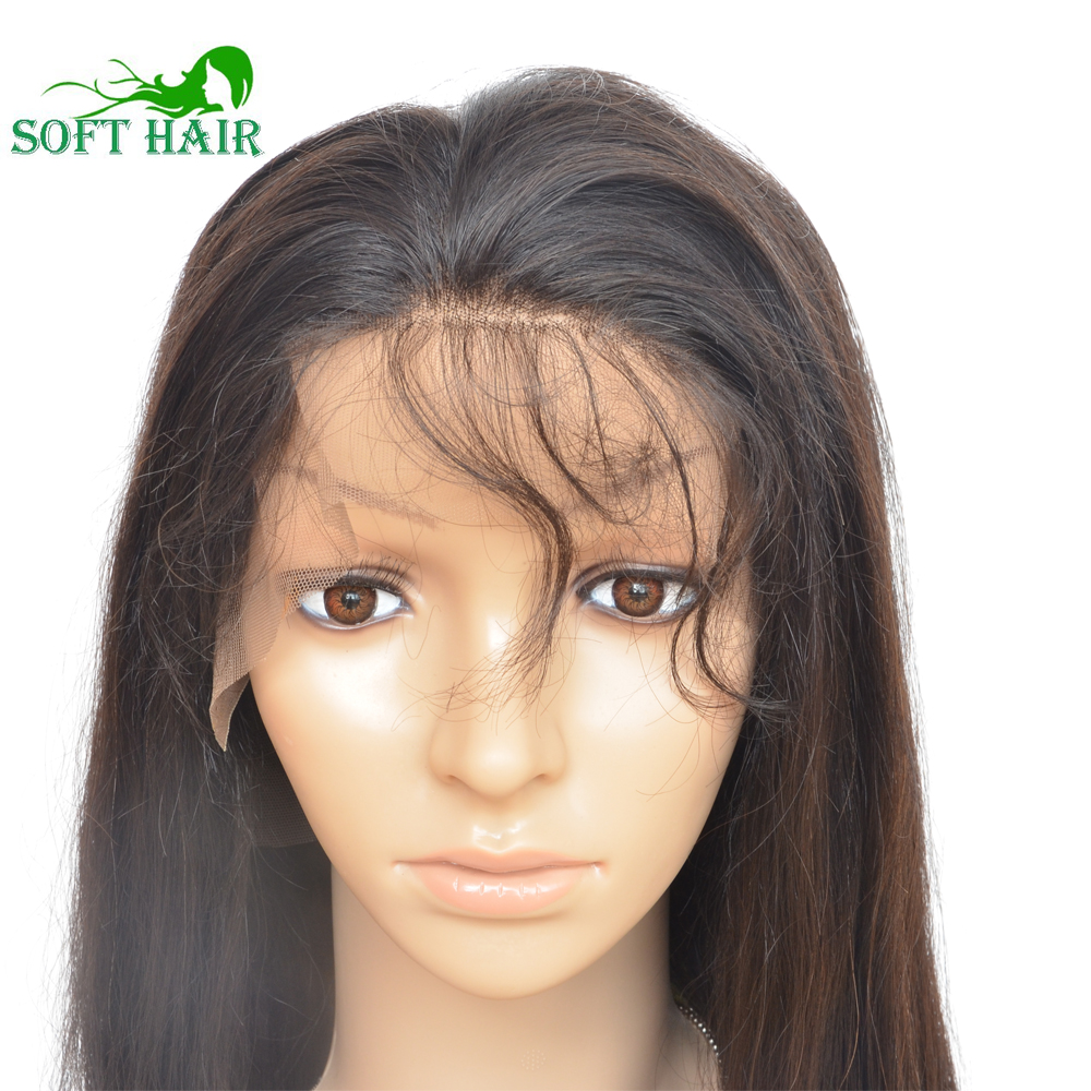 Lace front human hair wigs with baby hair natural straight u part wig glueless full lace human hair wigs for black women(China (Mainland))