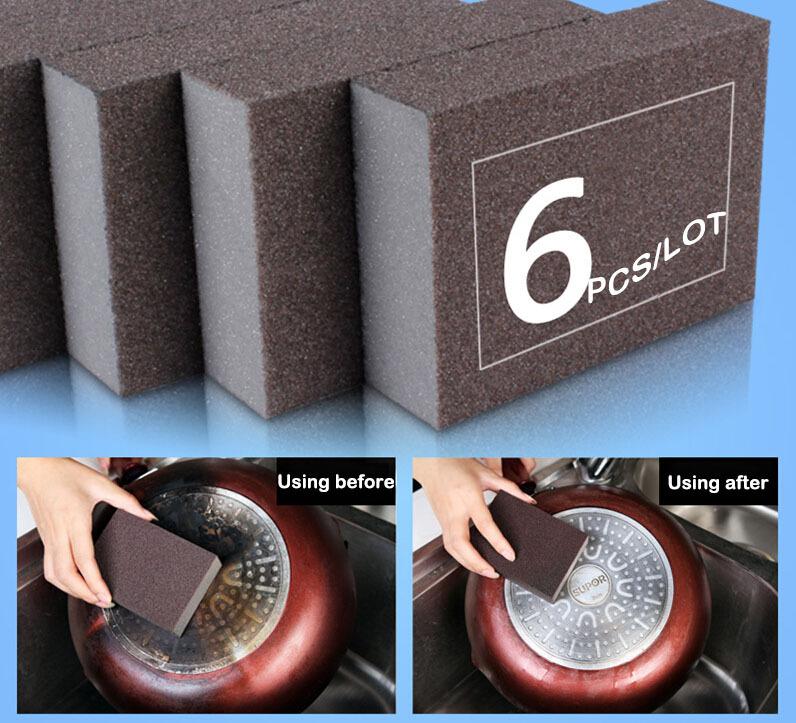 Nanometer arborundum Magic Sponge cloth/Kitchen Cleaning Brusher/ Pot Rusty remover brush/stains Cleaner - TOUCHING MOMENT store