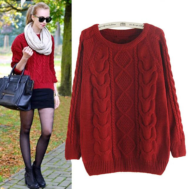 Гаджет  Ms. fashion new twist pullover sweater loose sweater female None Одежда и аксессуары