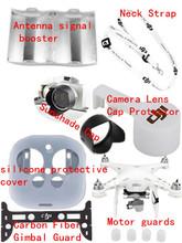 CF Gimbal Guard/ Lens Cover Cap/Sunshade Cap/Neck Strap/ protective cover/Motor guards/Antenna signal booster for DJI Phantom3