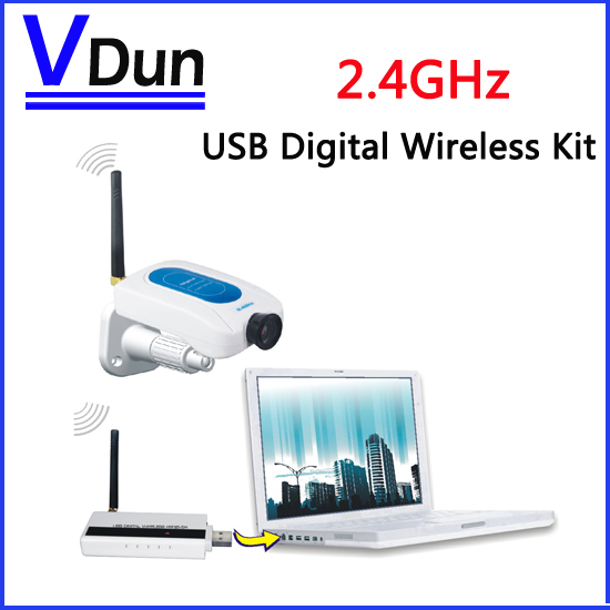 2.4GHz USB Digital Wireless Camera Security Surveillance Kit , CCTV System ( Camera *1 +Receiver *1 ) For Home Security(China (Mainland))