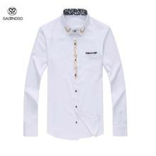Mens Dress Shirt 7XL Large Size Black White Men's Shirts Long Sleeve Solid Shirt Male Fitness Summer Style Camisa Masculina 6XL (China (Mainland))