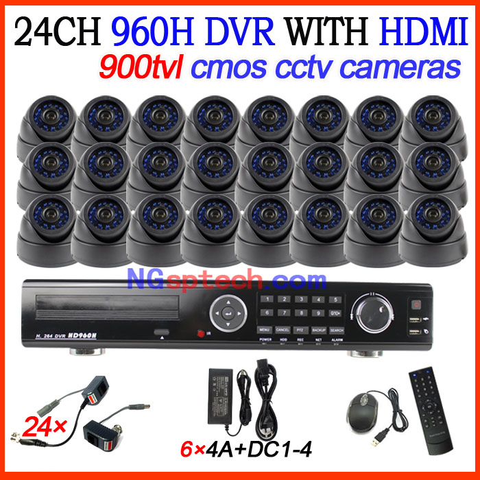 24CH DVR Standalone H.264 HDMI DVR CCTV Home Security 900tvl waterproof ir night view cctv cameras DVR recorder System<br><br>Aliexpress
