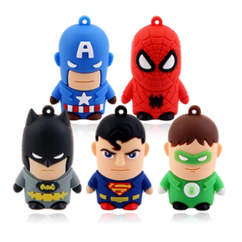 5 warriors hero SpiderMan Superman Batman Ironman 4gb 8gb 32gb 64gb pendrive pen drive usb flash drive with h2testw free ship(China (Mainland))