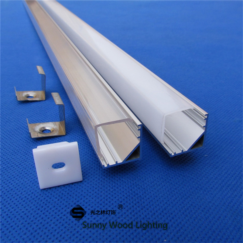Free shipping 90 corner aluminum profile for 5050 led strip,milky/transparent cover for 10mm pcb with fittings CC-16X16L(China (Mainland))