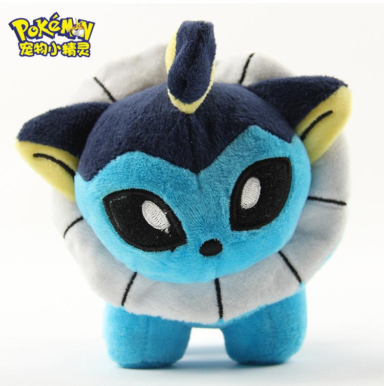 1pcs Pokemon Eevee Showers Vaporeon Aquali Aquana Water Moon Evolution Q Edition 12cm Plush Toy Movie Soft Stuffed Animals Gifts(China (Mainland))