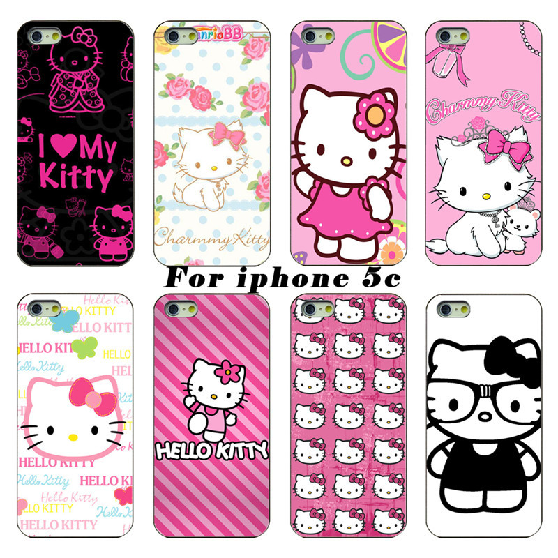 For Apple Phone Shell Latest Cute Hello kitty Protective Layer For Apple iPhone 5c Free Shipping(China (Mainland))