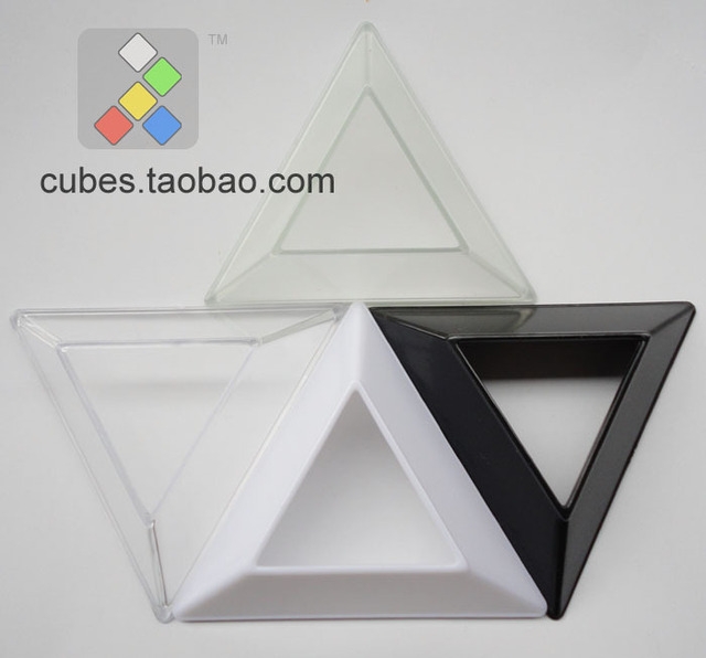 Magic cube base pure transparent black white