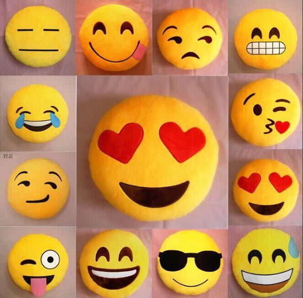 25 StylesCushion Cute Lovely Emoji Smiley Pillows Cartoon Facial QQ Expression Cushion Pillows Round Pillow Stuffed Plush Toy(China (Mainland))