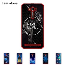 Asus Zenfone 2 Laser ZE550KL 5.5 inch Hard Plastic Cellphone Case Color Paint Mobile Protective DIY Cover - I am alone Long Xin Store store