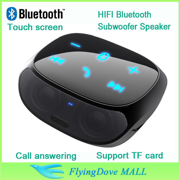 New Hot 360 degree wireless bluetooth speaker boombox with TF car slot touch panel handsfree HIFI subwoofer speakers(China (Mainland))