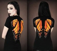 European and American creative personality Fashion Summer New Women Short Sleeve T Shirt butterfly 3D printing