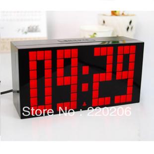Multifunctional led alarm clock child large screen digital mute luminous calendar wall clock table