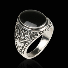 The Black Friday jewelry Sold On The Cheap 925 Sterling Silver Ring Vintage Look Enamel Punk