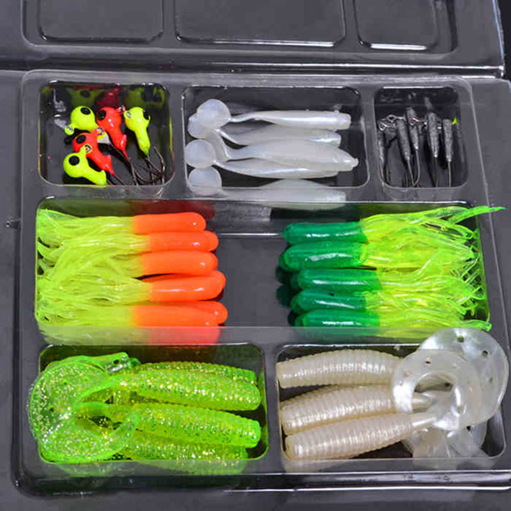 35Pcs Soft Worm Lure Carp Fishing Lure Set + 10 Lead Head Jig Hooks Simulation Suite Soft Fishing Baits Set Tackle Pesca(China (Mainland))