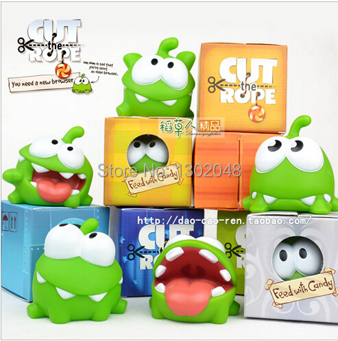 7pcs/lot 7cm om nom frog cut the rope Soft rubber cut the rope figure classic toys game gitf for children Fashion! Free shipping<br><br>Aliexpress