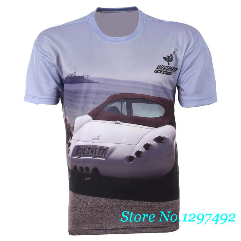 Men 39 s brand luxury car sports car 3d rendering shirt for Luxury t shirt printing