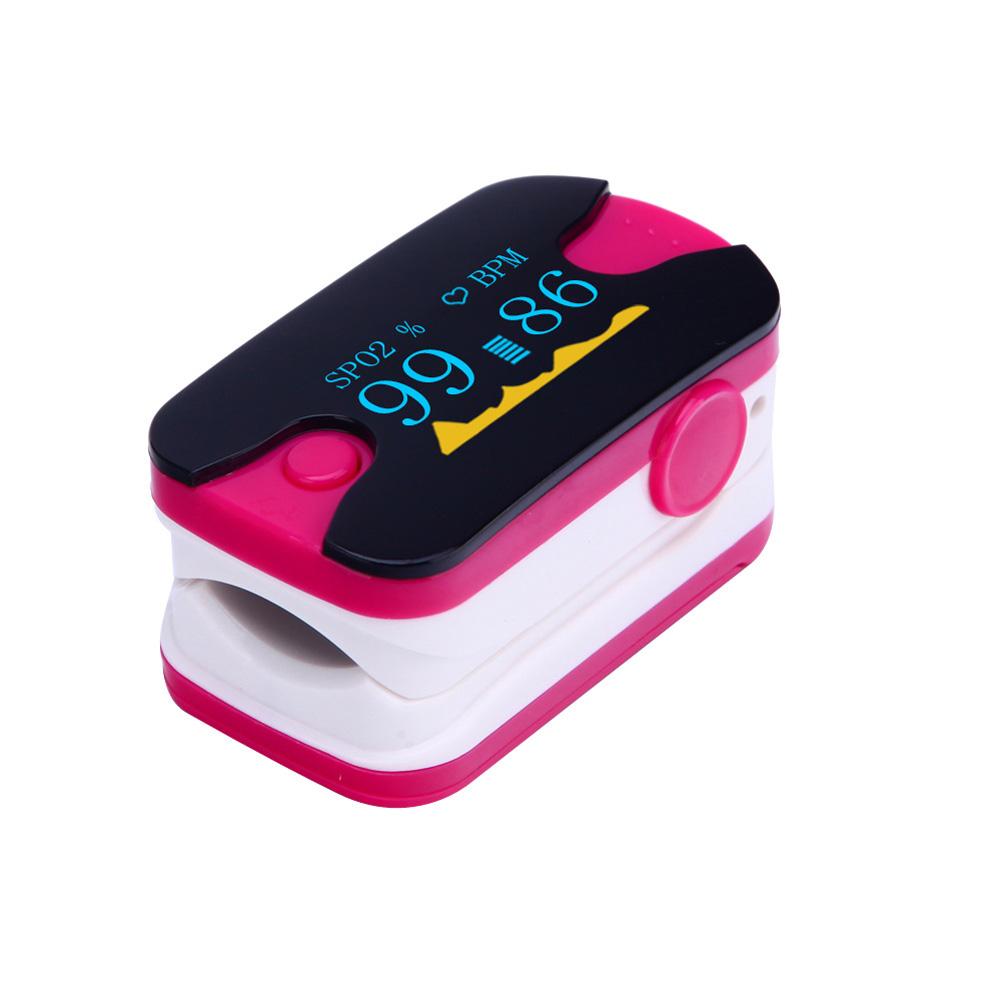 Rose Red Oximetro De Pulso De Dedo Diagnostic-tool Digital OLED Fingertip Pulse Oximeter Blood Oxygen SPO2 Heart Rate Monitor