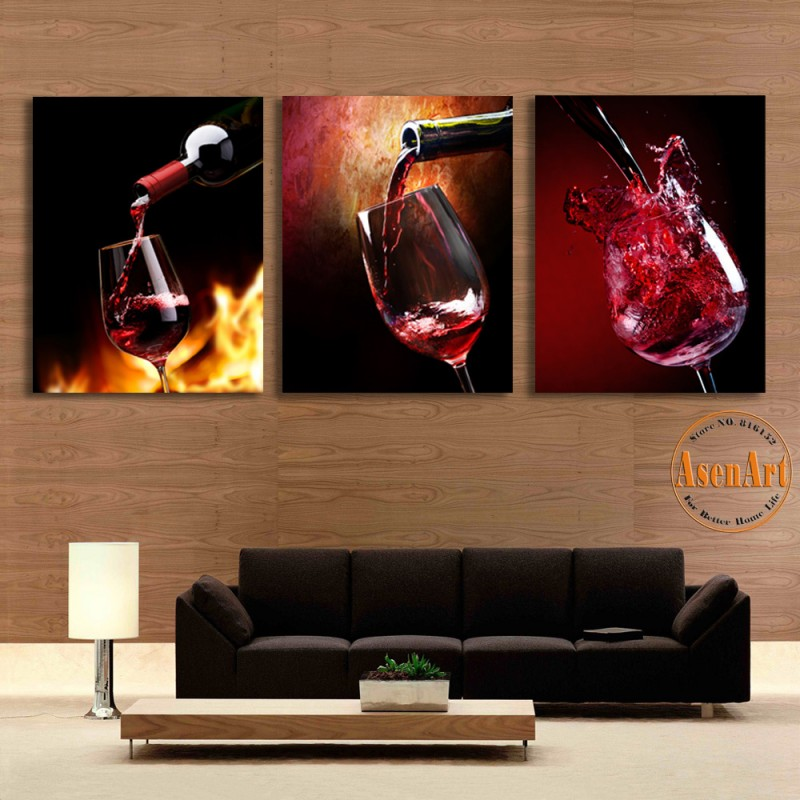 Rouge salle manger murs promotion achetez des rouge for Chambre red wine
