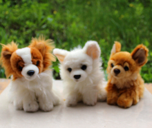 Simulation Dog Chihuahua Pomeranian Plush Toys Doll Car Ornaments Birthday Gift For Men And Women