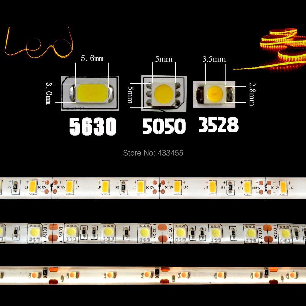 Светодиодная лента 12v 3528 5050 5630 0,5 1M