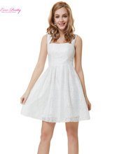 Cocktail Party Dress Ever Pretty Fast Shipping HE05255WH Women Fashion Short White Shite Lacy Cocktail Party Dress 2015 Vestidos(China (Mainland))