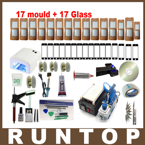 Fullset Black Mobile phone 7 Inch Touch Glass LCD Screen Separator Repair Kit machine +Vacuum Pump(China (Mainland))