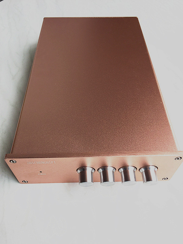 High end all aluminum chassis 3886/7893.94 matching 5532 front mixer aluminum enclosure diy rose gold amplifier chassis<br><br>Aliexpress