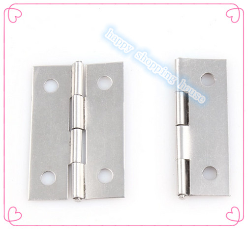 Furniture Hinge small hinges for jewelry box Small stainless steel hinge 34MM*22MM*0.5MM(China (Mainland))