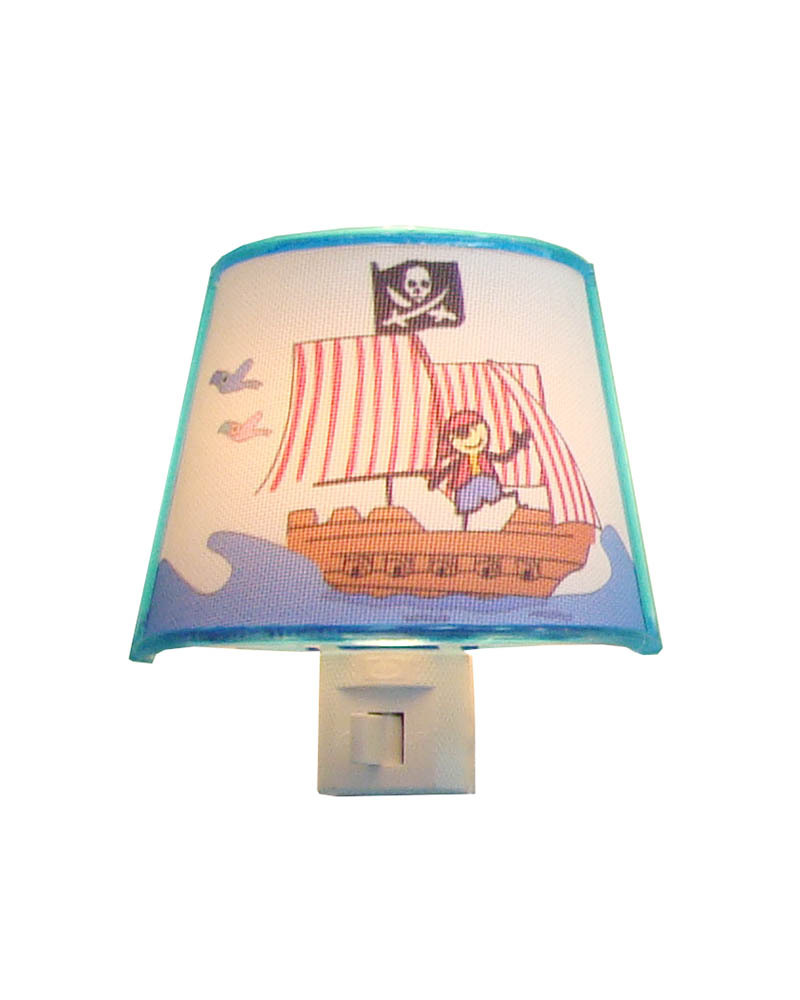 Pirate Ship Patterns Night Light Cartoon Picture LED Lamps Creative Gift LED Night Light for Children's Room(China (Mainland))