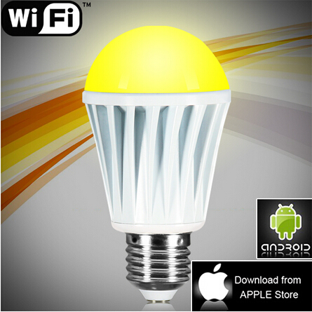 E27 WiFi LED Bulb RGBW Color Changing Smart Lamp Wireless Control Android iOS Free APP(China (Mainland))