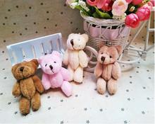 1PIC милый медведь плюш игрушка суставы мобильный телефон пакет кулон комикс букет кукла в свадьба подарок