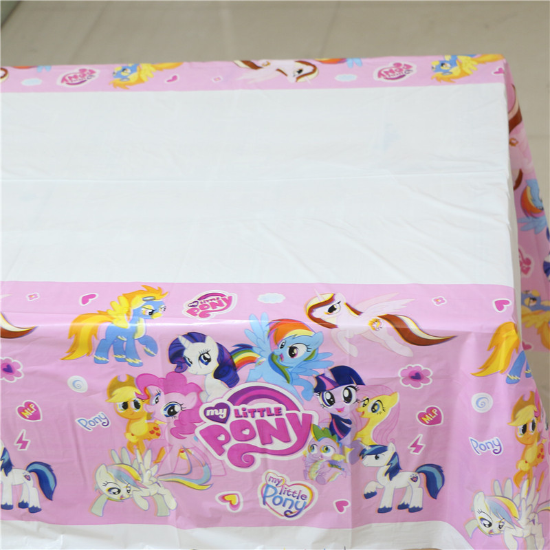 108cm My little Pony Party Table Cover Cloth for kids happy birthday party plastic disposable table cloth supplies(China (Mainland))