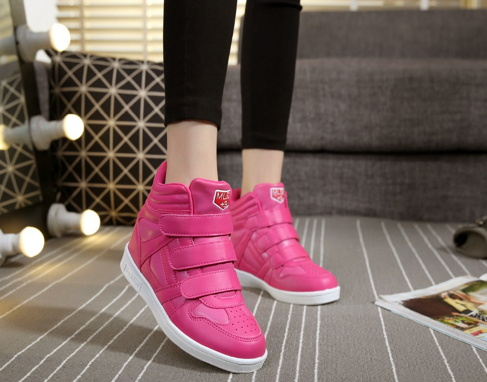 Гаджет  Women Wedge Shoes New Autumn And Winter 2015 Fashion Women Casual Shoes Wedge Heel Height Increases shoes woman None Обувь