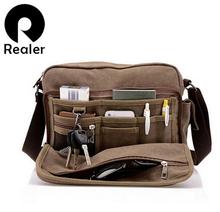Canvas Bag Fashion Leisure Men's Single Shoulder Bag Multi-function Men bag RHNMB0143